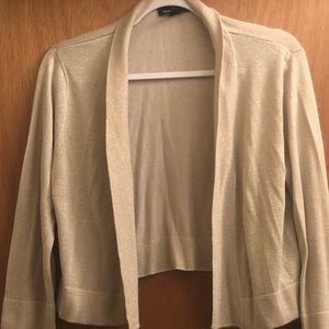 Gold Shimmer 3/4 Sleeve Cardigan